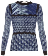 Mary Katrantzou Rosalba long-sleeved knitted top