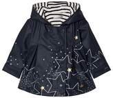 Catimini Navy Star Print Lined Raincoat