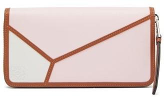 Loewe Puzzle Leather Zip Wallet - Womens - Pink Multi