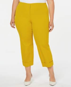 Alfani Plus Size Cuffed Ankle Pants, Created for Macy's