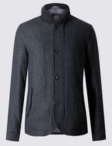 Marks and Spencer Pure Wool Tailored Fit Shawl Collar Coat