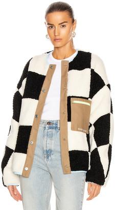 Sandy Liang Pawn Fleece in Checkerboard | FWRD