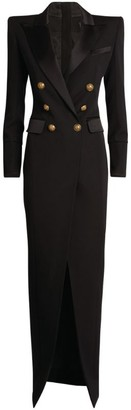 Balmain Double-Breasted Maxi Blazer Dress