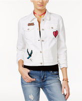 Vanilla Star Juniors' Patch Denim Jacket