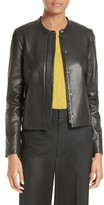 Vince Women's Leather Zip Front Jacket