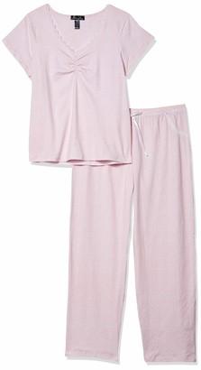 Rene Rofe Women's Trimmed-with Love Long Pajama Set