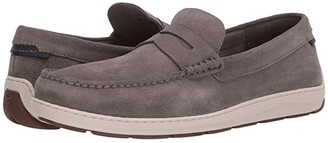 Trask Sheldon (Taupe Suede) Men's Slip on Shoes