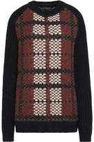 Belstaff Bradford Plaid Wool Cashmere And Mohair-Blend Sweater
