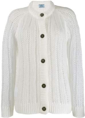 Prada ribbed button-up cardigan