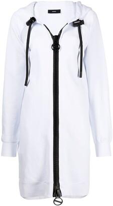 Diesel D-Akron cutout hoodie dress