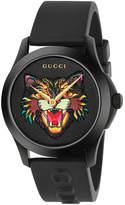 Gucci 38MM G-Timeless Feline Head Motif Watch