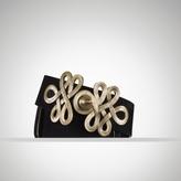 Ralph Lauren Suede-Gold Scroll Belt