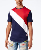 Reason Men's Diagonal Colorblocked T-Shirt