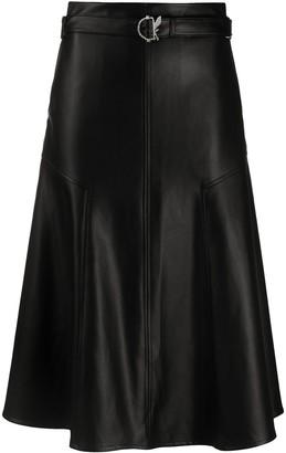 Patrizia Pepe Faux Leather Midi Skirt