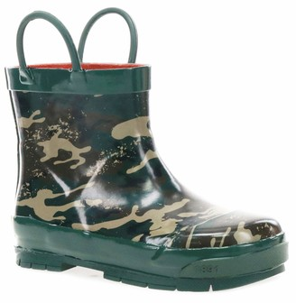 Western Chief Waterproof Shorty Rain Boot with Easy Pull on Handles