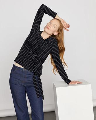 Jigsaw Stripe Jersey Tie Top