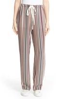 Theory Women's Winszlee Stripe Silk Pants