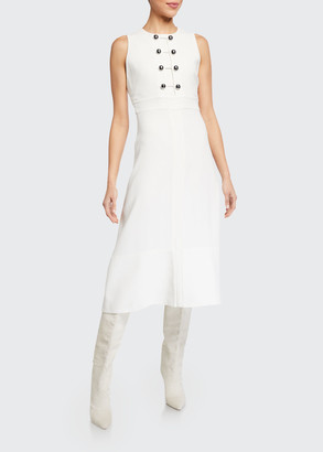 Proenza Schouler Sleeveless Barbell-Closure Dress
