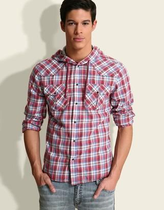 Asos Hooded Check Shirt