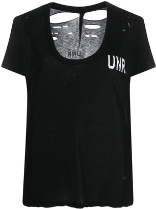 Unravel Project distressed UNR. print T-shirt