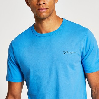 River Island Prolific blue slim fit T-shirt