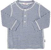 Il Gufo Infants' Striped Linen-Cotton Slub-Weave Henley