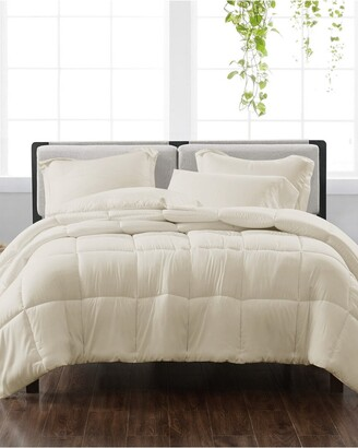 Cannon Solid Ivory 3Pc Comforter Set