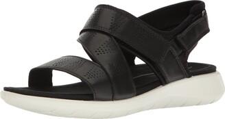 Ecco Women's Soft 5 Cross Strap Flat Sandal
