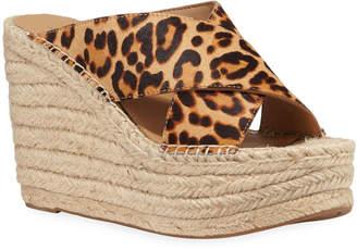 Marc Fisher Adenly Leopard-Print Espadrille Sandals