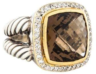 David Yurman Diamond & Smoky Quartz Albion Ring