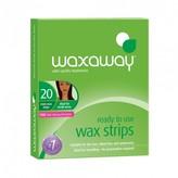 Waxaway Ready To Use Mini Wax Strips Face & Bikini 20 pack