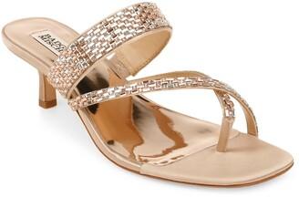 Badgley Mischka Zena Embellished Slide Sandal
