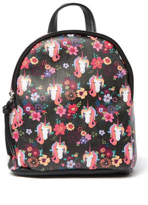 T-Shirt & Jeans Mikey Floral & Unicorn Mini Backpack