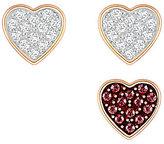 Swarovski Crystal Wishes Heart Stud Earring Set