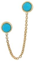 Jennifer Meyer Turquoise Chain Stud Earrings