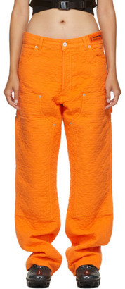 Heron Preston Orange Carpenter Pants