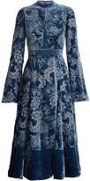Erdem Christina high-neck velvet-devoré dress