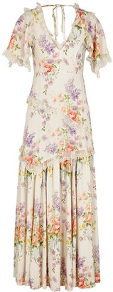 Needle & Thread Floral Diamond Elsa floral-print maxi dress