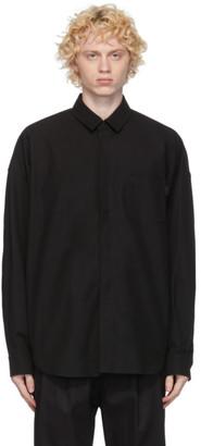 Juun.J Black Canvas Shirt