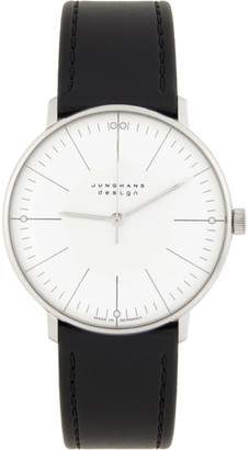 Junghans White and Black Max Bill Handaufzug Watch