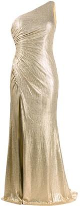 Blanca Vita One-Shoulder Gown