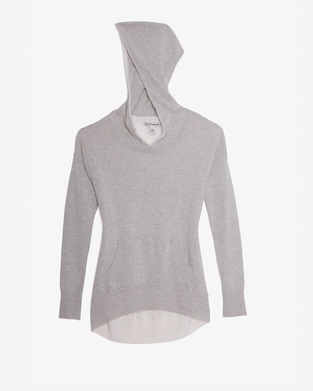Autumn Cashmere Exclusive Cable Knit Back Hoodie