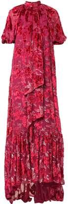 Erdem floral velvet dress
