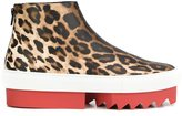 Givenchy platform leopard print sneakers - women - Leather/rubber - 38