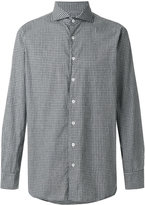 Lardini club collar checked shirt
