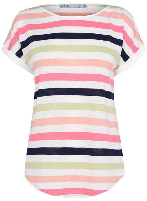 Oasis Rainbow Stripe Tee