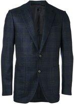 Caruso checked blazer - men - Silk/Cupro/Cashmere/Wool - 48
