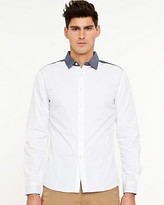 Le Château Cotton Mixed Media Shirt