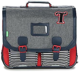 Tann's TEDDY CARTABLE 41CM boys's Briefcase in Grey