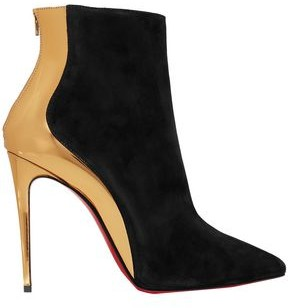 Christian Louboutin Metallic-paneled Suede Ankle Boots
